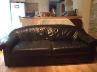 divan noir cuir / black leather couch