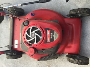 Craftsman self propelled lawnmower and weed trimmer