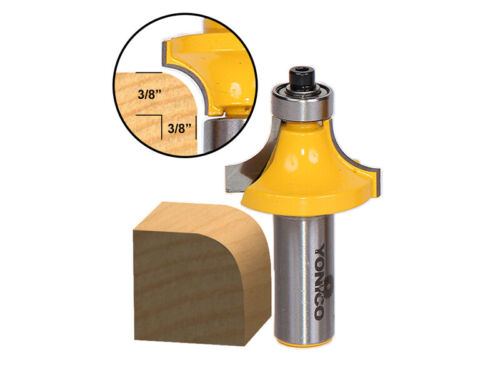 Yonico 13164 Round Over Edging Router Bit with 3/8-Inch Radi