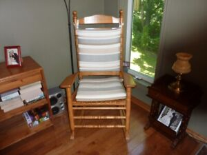 Rocking Chair with chair pad.