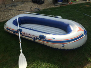 Blow Up Boat for Water or Snow