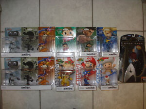 12 Brand New Amiibos and Star Trek Figure!!!
