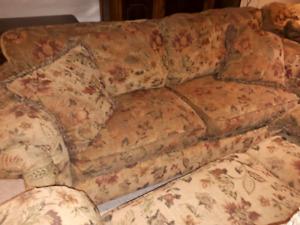 2 matching sofa & loveseat sets