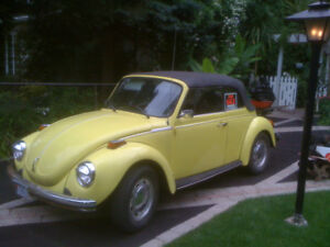 1974 Super VW Beetle Convertible with Trailer