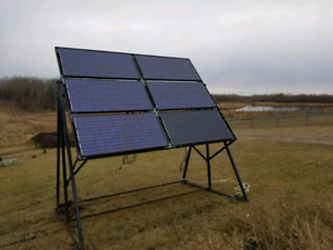 Solar Panels and Stand