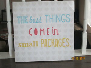 """The best things come in small packages"" Canvas"