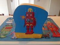 Jigsaw Crocodile Creek Robot floor puzzle perfect condition kids play