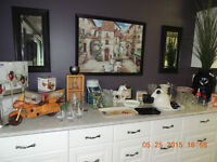 LOTS OF DISHES AND DECORATIVE PIECES