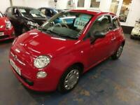 FIAT 500 1.2 POP IN RED WITH STOP/START ONLY 42K MILES £30 TAX ECONOMICAL 2013