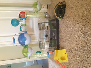 Habitrail retreat ~ hamster cage with accessories