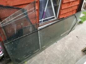 Reinforced glass.