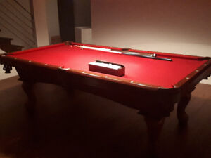 Legacy Billiards Pool Table Pattes de Lion -Bois Massif-