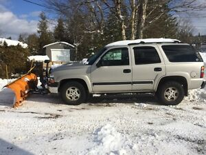 2004 Chevy Tahoe and plow