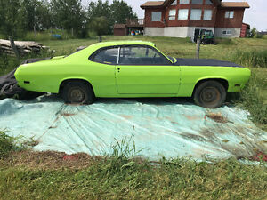 1970 duster no engine or trans needs to go no trades