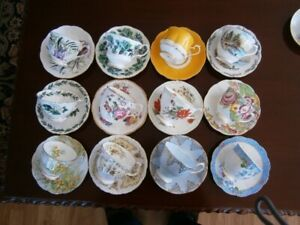 TWELVE LOVELY ROYAL ALBERT CUP AND SAUCER SETS