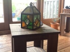 Old stained glass wall light
