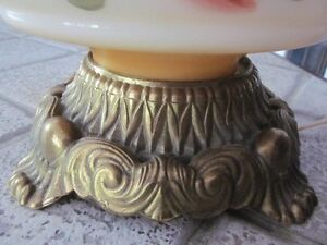 Vintage Hand Painted Gone With The Wind Hurricane Parlour Lamp Cambridge Kitchener Area image 3