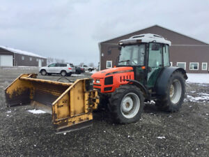 Agco GT65a 4wd Tractor with factory cab and HLA 3000 snow pusher
