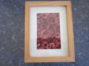 Abbott Collection Handmade Paper Rose Shadow Box Picture