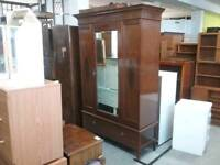 Stunning Wardrobe With Mirror & Drawer - Can Deliver For £19