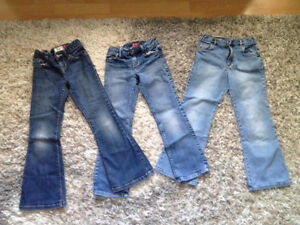 3 PAIRS GIRLS SIZE 7 JEANS