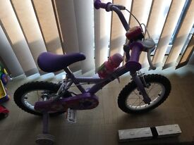"Young girls petal bicycle 14"""