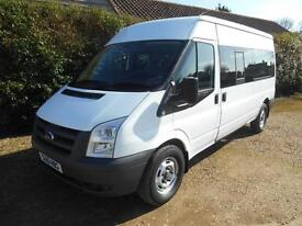 2010 10 FORD TRANSIT 2.4TDCI 15 SEAT MINIBUS 1 OWNER FSH VERY CLEAN 55000 MILES