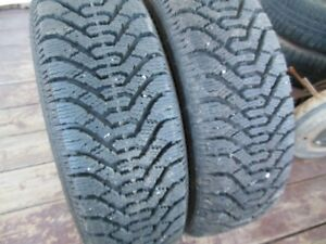 "2 Goodyear Nordic P185/70R14 Winter Tires 12/32"" Tread"