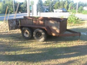 """STRONG"" HEAVY DUTY DUAL AXLE TRAILER 4X8 [SOLID] FIRM."