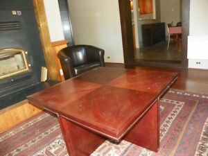 Large square wooden Mohilia coffee table