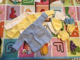 Handmade Newborn baby knits
