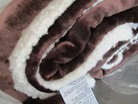 Sherpa Throw/Blanket, NEW