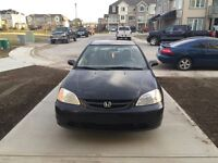 2002 Honda Civic coupe 1000$ Firm/As is Airdrie
