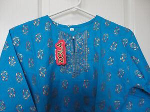 Women's cotton blue blouse top shirt Size XL Brand new London Ontario image 2