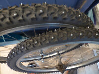 Studded tires for mountain bike