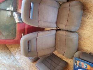Grey bucket seats