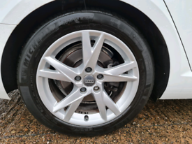 4 x AUDI A4 B9 SE SPORT 17 INCH ALLOYS UNMARKED WITH EXCELLENT TYRES A
