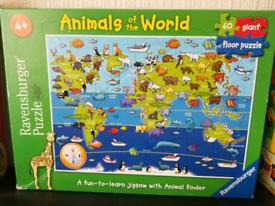 60 pieces puzzles - Animals of the World