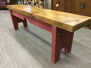 HANDCRAFTED CEDAR BENCH GREY BASE - GORGEOUS!! Kitchener / Waterloo Kitchener Area image 4