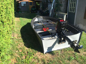 Porta-Bote 10' with like new 5HP Mercury outboard