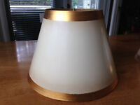Lampshades - colour beige, lacquered with gold trim
