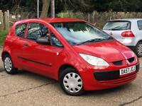 2007 Mitsubishi Colt 1.1 ( 74bhp ) CZ1 3 Door Red only 65,765 Miles 1 OWNER!!!!!
