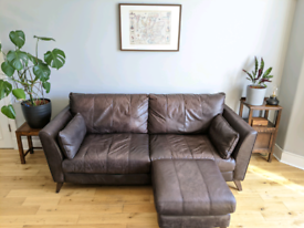 Leather Sofa Couch Set