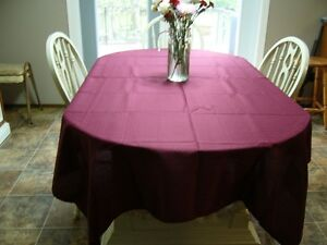 7 Table Cloths - Burgundy various sizes - Dauphin