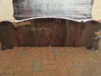 Italian double bed headboard & footboard