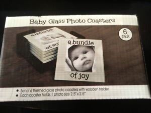 NEW!  Baby Glass Photo Coasters (6 pack)