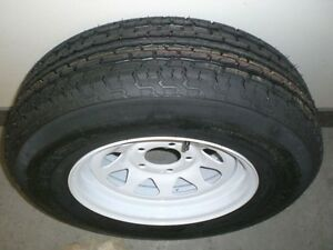 SPECIAL - TRAILER TIRES on WHITE RIMS - ST 205 75 R14 London Ontario image 1