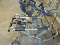 "Bosch jobsite stand with 10"" compound miter saw"