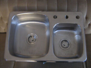 Sink Stainless steel sink Wessan Drop In One and a Half Bowl