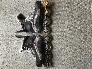 Bauer x300 junior rollerblades Size 6